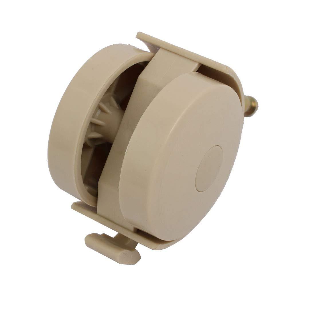 sourcingmap/® 4pcs 2 diam/ètre tige frein 6,5 mm pivotant roulette pour lit Ivoire