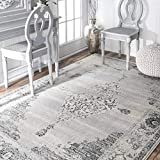 Cheap nuLOOM KKZG13A Vintage Sherrell Rug, 3′ x 5′, Light Grey