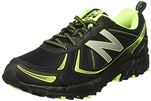 New Balance Men's MT410v5 Cushioning Trail Running Shoe, Black, 8 D US For Sale