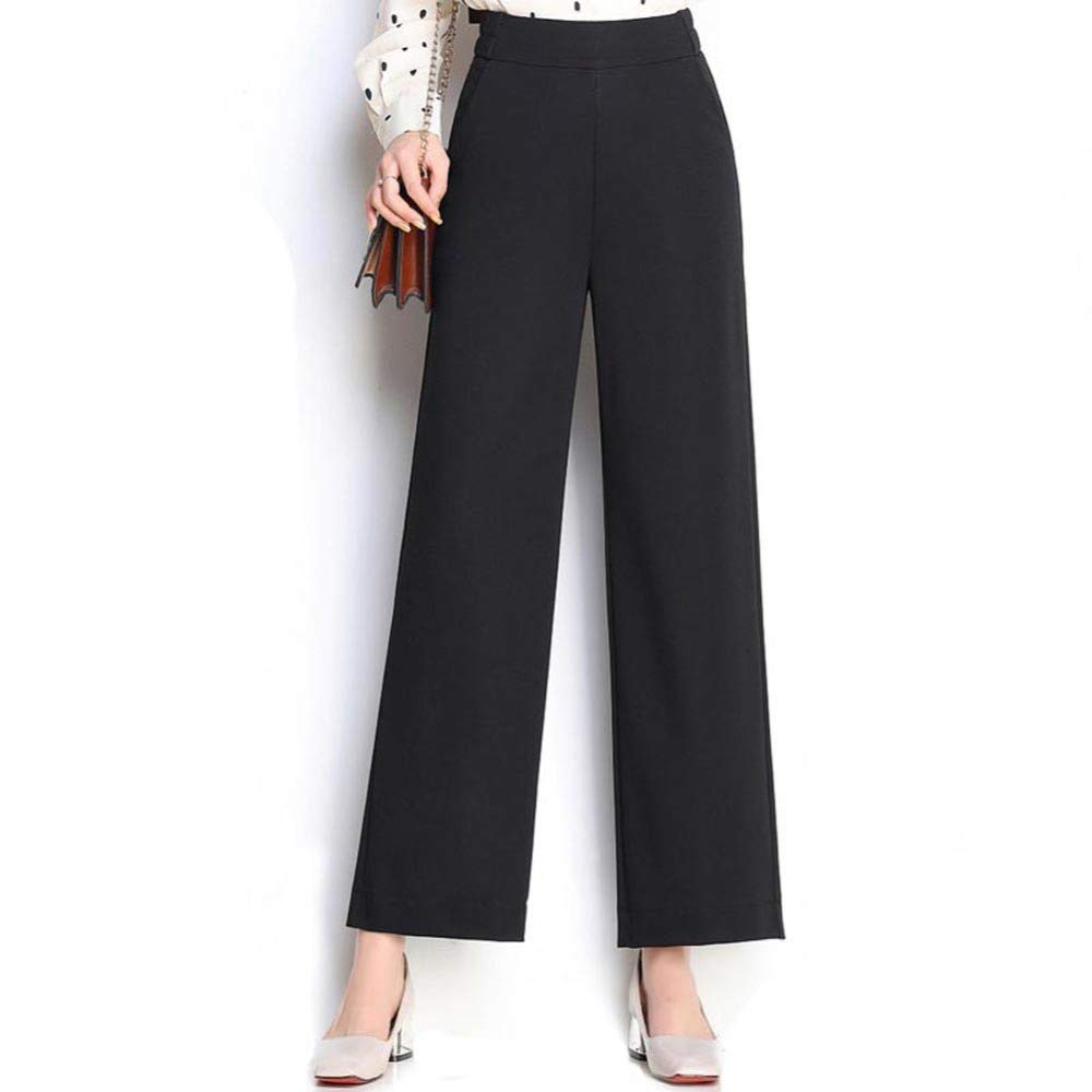 B HOQTUM Wide Leg Pants Women's Spring and Summer Loose Large Size Trousers Elastic high Waist Fashion Ladies Casual Pants