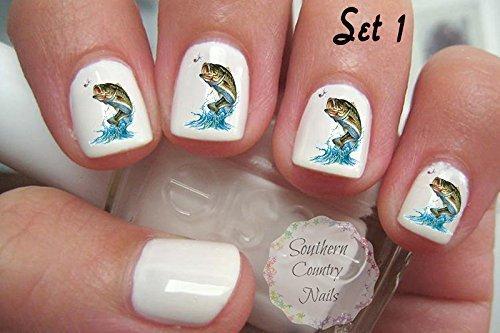 - Amazon.com : Bass Fish Girls Fish Too Set 1 Nail Art Decals : Beauty