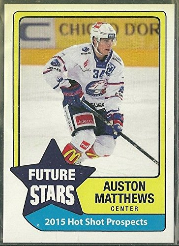 2015 Prospects Future Stars Auston Matthews Rookie USA Hockey Card Toronto Maple Leafs rookie rc in a one touch magnetic case