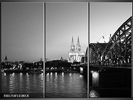 Orologi Da Parete In Tela : Tlg tela foto orologio da parete dom ponte notte vista panorama
