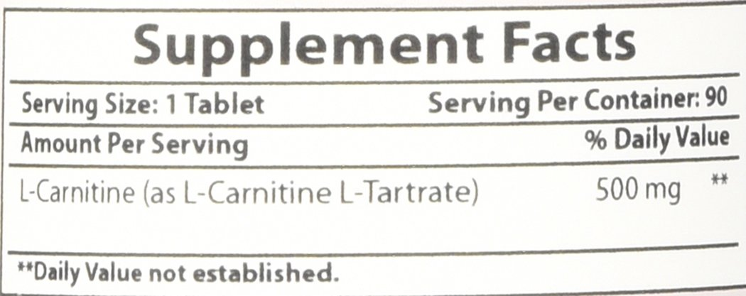 Best Naturals L-Carnitine Tartrate 500 mg 90 Tablets by Best Naturals (Image #1)