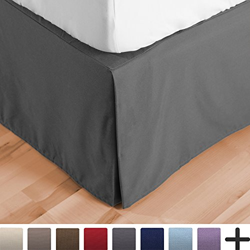 Bed Skirt Double Brushed Premium Microfiber, 15-Inch Tailore