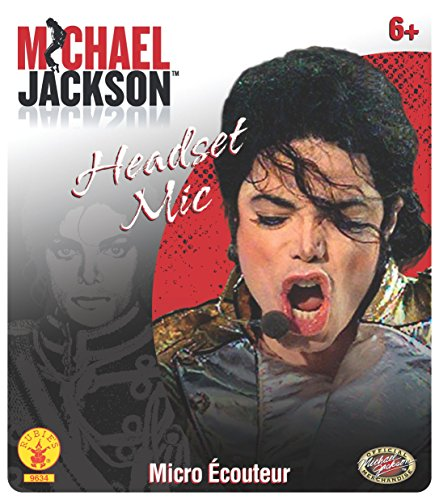 Cheap Michael Jackson Costumes (Rubie's Costume MJ Microphone Headpiece, One)