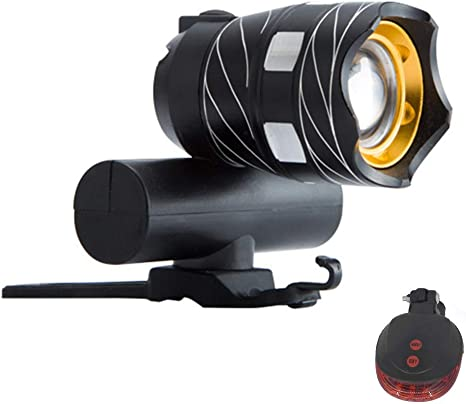 Rechargeable 3000LM Bike Bicycle Headlight Head Lamp Front Back Rear Light Set