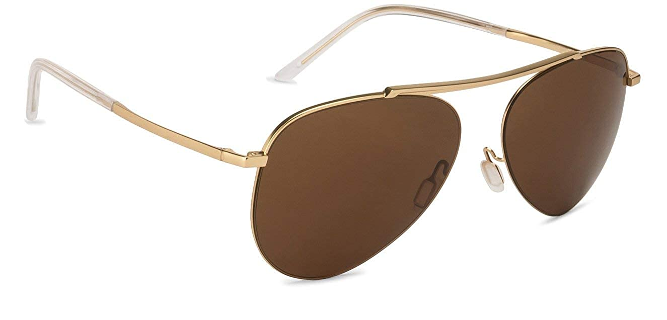 456e532da8 John Jacobs Golden Half Rim Aviator Shape Large Unisex Sunglasses (124371