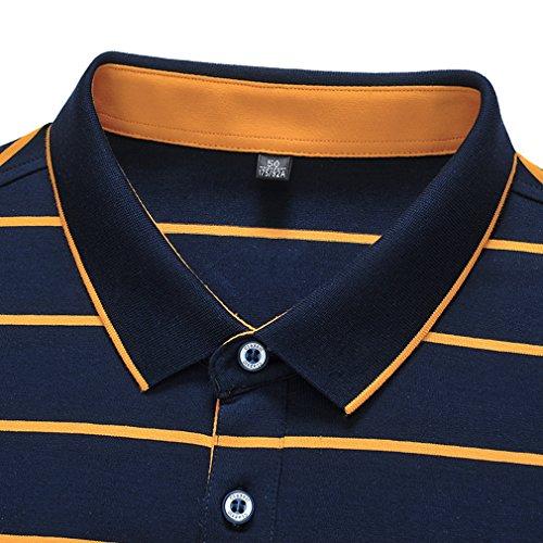 ポロシャツ メンズ 半袖ポロシャツ ボーダー ゴルフウェア 男性用ポロ ゴルフ カジュアル 夏服 通気性