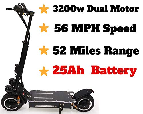 maxx OUTSTORM 56MPH Ultra High Speed Electric Scooter for Adults Foldable, 3200W Dual Motor| 60V...