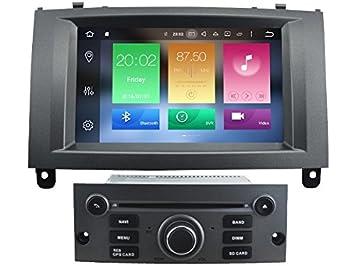 Ocho Core 1024 * 600 HD pantalla Android 6.0 coche DVD GPS navegación para peugeot 407 2004 - 2010 con 3 G/WIFI DVR Espejo Link de DAB: Amazon.es: ...