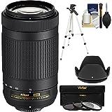Nikon 70-300mm f/4.5-6.3G DX AF-P ED Zoom-Nikkor Lens with 3 UV/CPL/ND8 Filters + Hood + Tripod + Kit (Certified Refurbished)