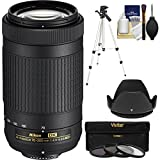 Nikon 70-300mm f/4.5-6.3G DX AF-P ED Zoom-Nikkor Lens with 3 UV/CPL/ND8 Filters + Hood + Tripod + Kit (Certified Refurbished)