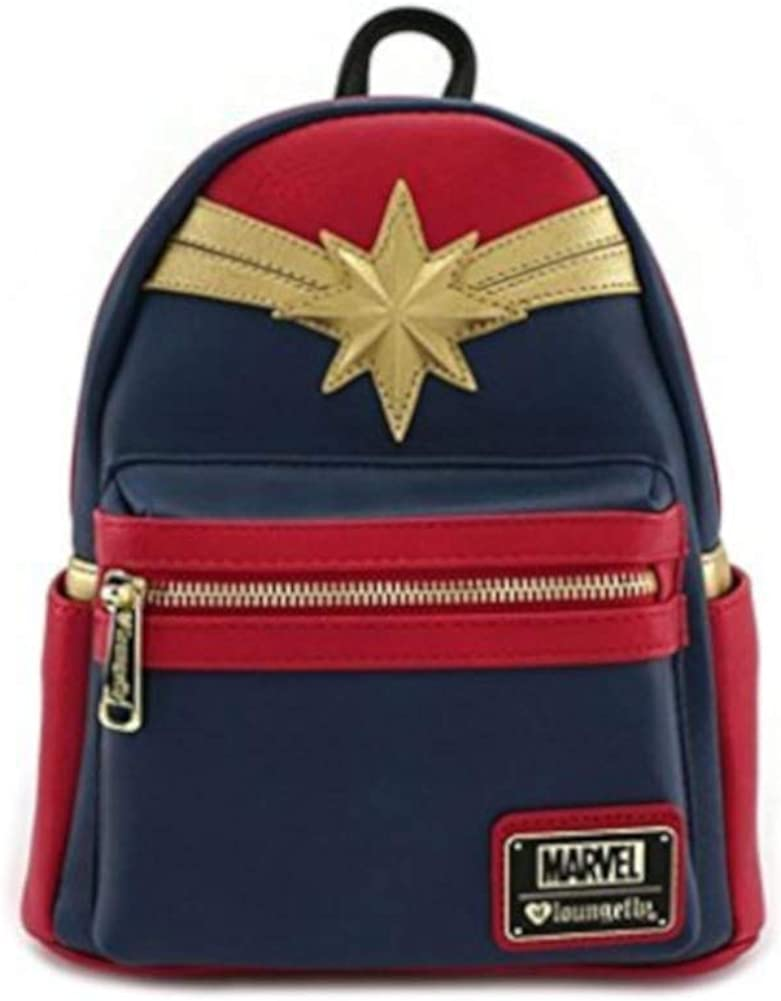Loungefly Disney - CAPTAIN MARVEL RED SUIT - Cosplay Mini BackPack