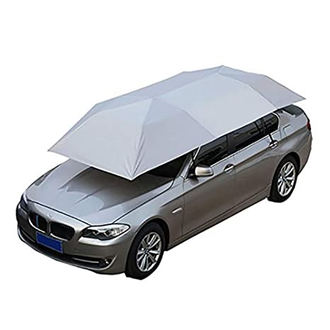 Amazon.com: LMHX Car Rooftop Tent Universal Carport Movable Folded Semi-Automatic Car Canopy Cover Protection Windproof Umbrella Sunproof: Sports & Outdoors