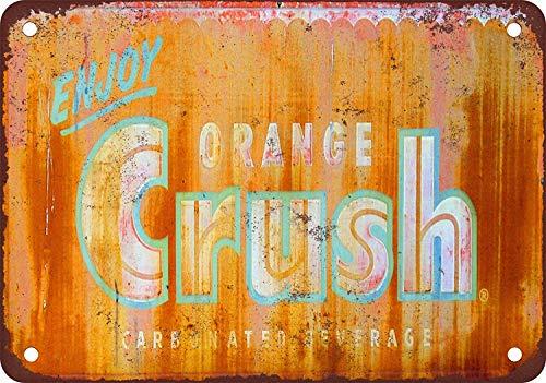 Linvender Enjoy Orange Crush Metal Vintage Art Beautiful Traditional Tin Label 12 8 Advertising Wall Decoration Gift