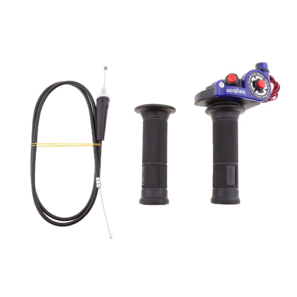 Rojo 1 Par Manillar Pu/ños de Aceleraci/ón y Cable para Motocicleta Acci/ón R/ápida con Cable de Bicicleta Piezas de Reemplazos