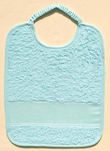 Set de 6 baberos de rizo de algodón con elástico y tela Aida ROSA: Amazon.es: Bebé