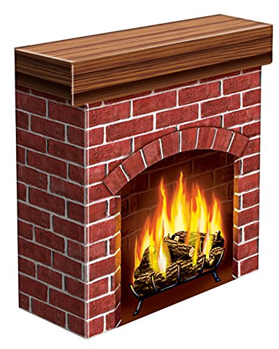Beistle S18532V Fire Place 3-D Prop, 30