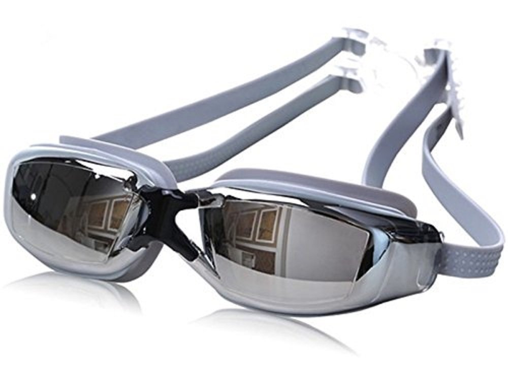 Grey Gray New Men Womens Anti Fog Uv Protection Swimming Goggles Professional Electroplate Waterproof Swim Glasses