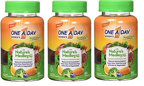 Natures Medley - One A Day Women's Gummy Nature Medley, 60 Count(Pack of 3)