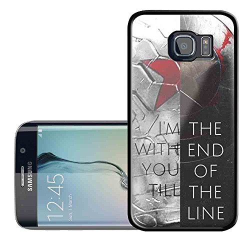 civil war captain america quote for Samsung Galaxy S6 Black case