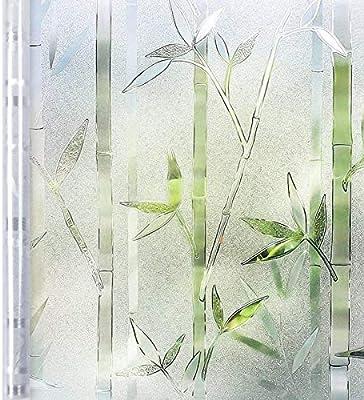 Homein Vinilo Ventana Privacidad Vinilo Mampara Ducha Baño Cristal Electricida Estática, 90 * 200cm, Película Ventana Bambú Sin Cola Adhesivo Facíl Desmontar y Reutilizar Cocina Oficina Anti UV: Amazon.es: Amazon.es