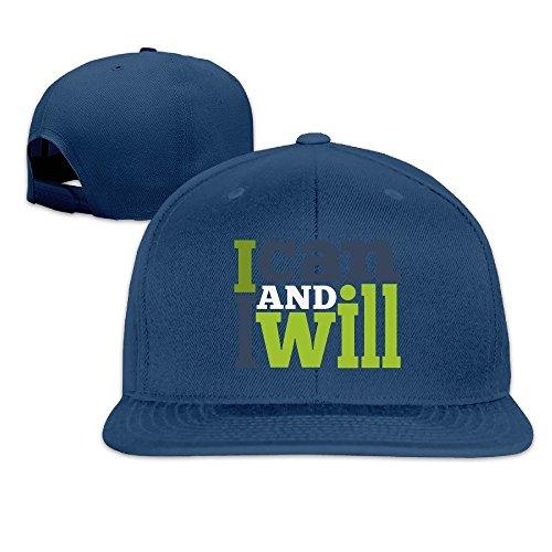 MaNeg I Can And I Will Unisex Fashion Cool Adjustable Snapback Baseball Cap Hat One Size