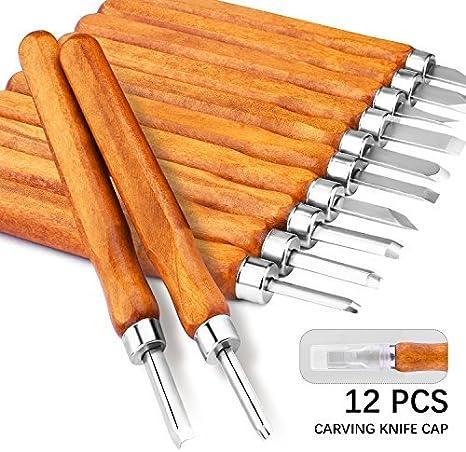 Juego de talla de madera para tallar madera herramienta para escultura de talla de madera DIY y talla de cera