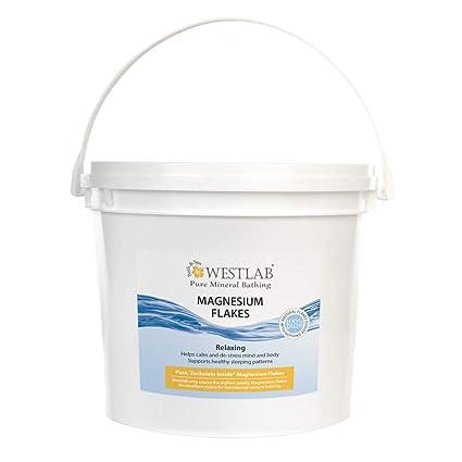 5 kg de copos de magnesio – (cloruro de magnesio hexahidrato); el embalaje