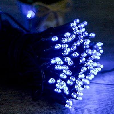 VERKB 200LED Christmas String Lights Multi-Colour Blue White