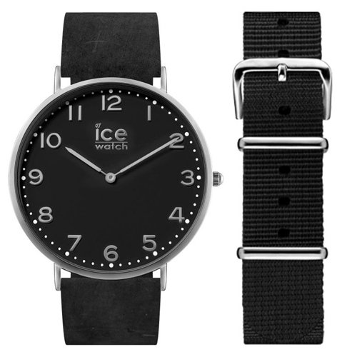 Ice-Watch CHL.A.BAR.36.N.15 Mens Ice-City Watch with Black Nylon and Leather Straps