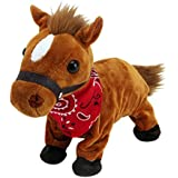 Liberty Imports Interactive Animated Walking Pet Electronic Horse Plush Sound Control Toy Pony - Gallops & Neighs (Pony)