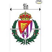fan products of Real Valladolid Club de Futbol Spain Soccer Football Club FC 2 Stickers Car Bumper Window Sticker Decal Huge 18 inches