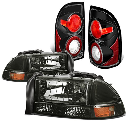 dodge-dakota-durango-4pcs-pair-of-smoked-lens-amber-corner-headlights-black-altezza-style-tail-light