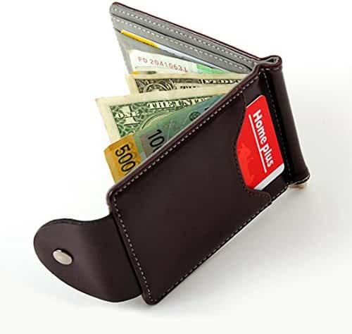Wallet,toraway Men Ultra-thin Leather Money Clip Slim Wallets Purse