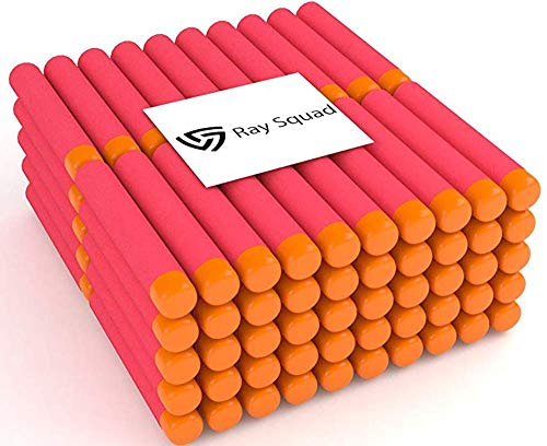 - Ray Squad Red 120 Nerf Mega Darts, Nerf Compatible Foam Toy Darts, Premium Refill Bullets for N-Strike Guns, Universal Mega Pack, Firm and Safe Nerf Compatible Accessories