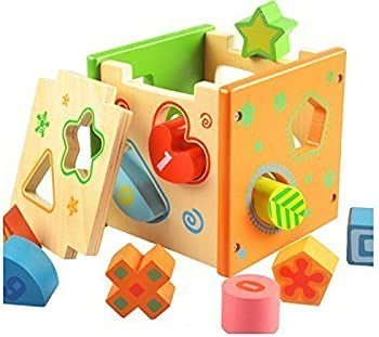 BATTOP Baby Wooden Shape Cube