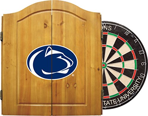 Imperial Officially Licensed NCAA Merchandise: Dart Cabinet Set with Steel Tip Bristle Dartboard, Penn State Nittany Lions