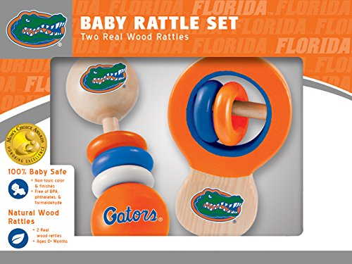 MasterPieces NCAA Florida Gators Real Wood Baby Rattles (2-Pack) ()