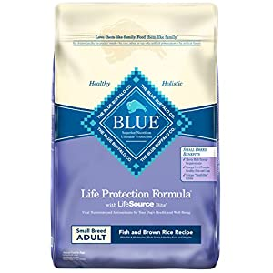 Blue Buffalo Life Protection Formula Small Breed Dog Food – Natural Dry Dog Food for Adult Dogs – Fish and Brown Rice – 15 lb. Bag