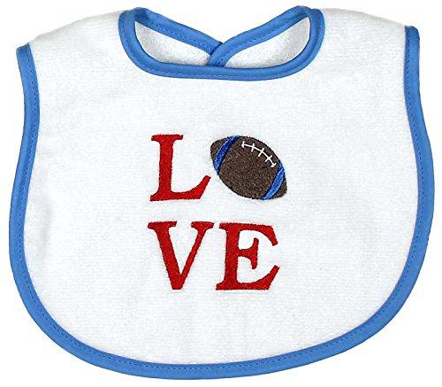 Price comparison product image Raindrops Love Embroidered Bib, Blue