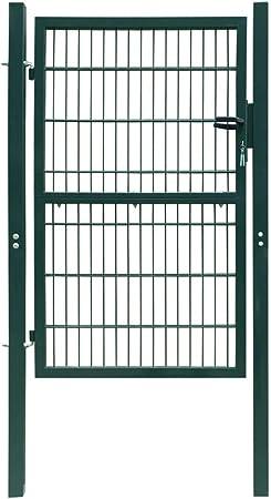 UnfadeMemory Puerta Doble Metalica de Valla para Jardin Patio o Terraza,Entrada para Valla,Puerta de Jard/ín,con Puntas de Lanza,Acero Negro 300x175cm