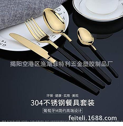 Cuchara para cubiertos Vajilla Jieyang Cuchara para cubiertos de acero inoxidable/Vajilla portuguesa/Vajilla bañada en oro/Jieyang/Acero inoxidable 304, ...
