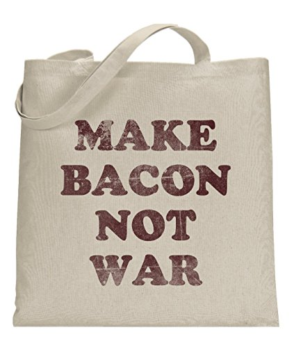 Price comparison product image Crazy Dog Make Bacon Not War Funny Universal Tote Bag -standard