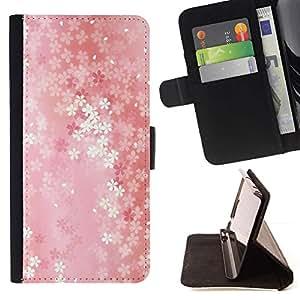 Momo Phone Case / Flip Funda de Cuero Case Cover - Patrón floral - HTC Desire 820
