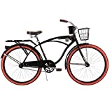"Huffy 26"" Nel Lusso Men's Cruiser Bike, Black"