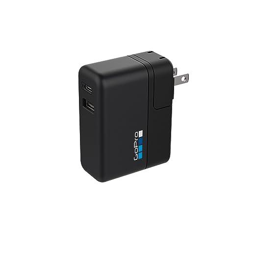 5 opinioni per GoPro Supercharger Caricabatteria a Doppia Porta Internazionale, Nero