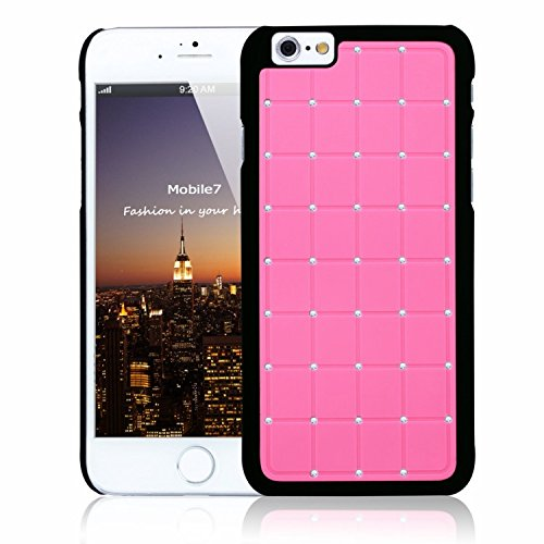 Apple Iphone 6/6s LUXURY CRYSTAL Cross Diamond Pink Case Bling Hard Cover with Black Frame For Apple Iphone 6/6s By G4GADGET®