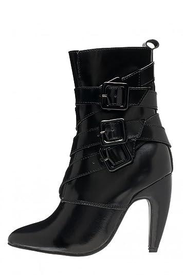 2bc150ada Amazon.com   Jeffrey Campbell Women's Destroyer Buckle Boots, Black ...
